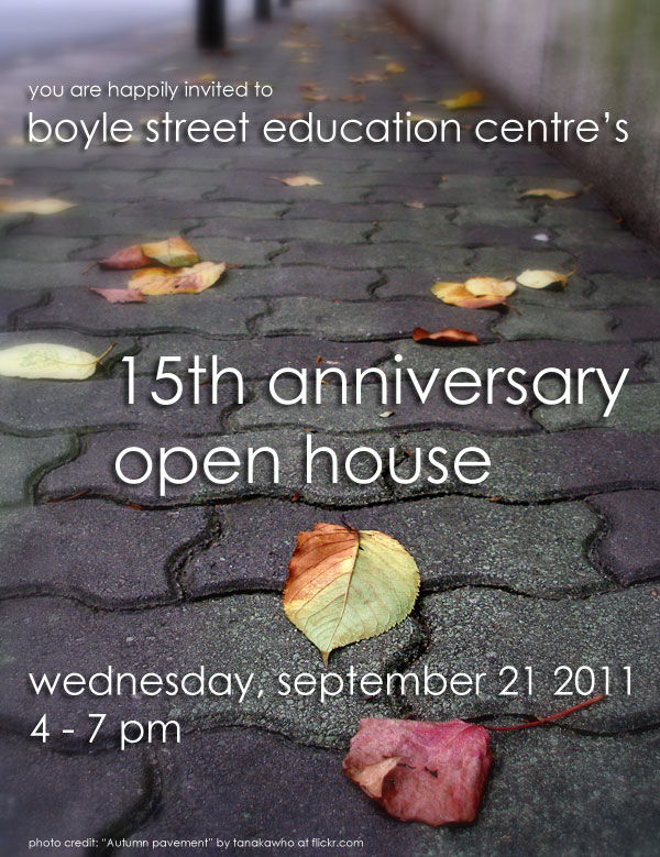Join us September 21, 2011 for a celebration of the past 15 years of BSEC!