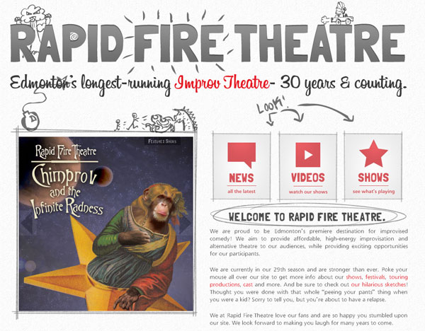 Improv today with Rapid Fire Theatre