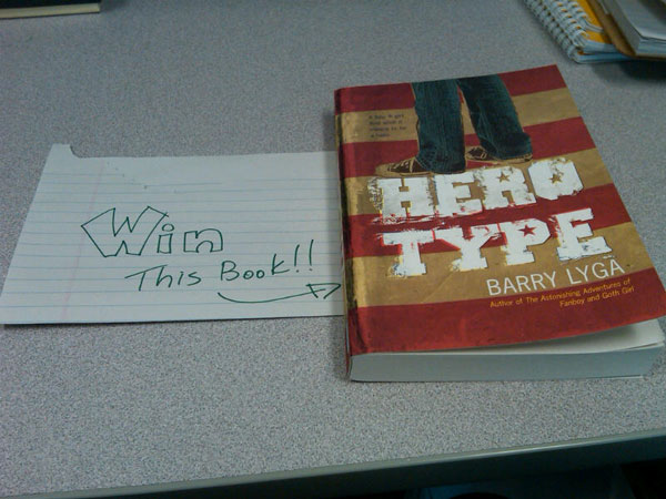 You can WIN this SIGNED copy of Barry Lyga's Hero Type