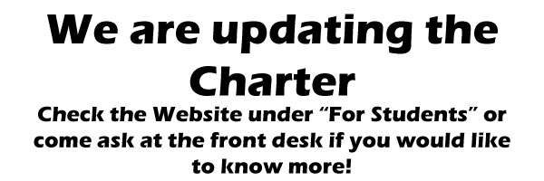 "Check under ""For Students"" to see the proposed updates to the school's Charter"