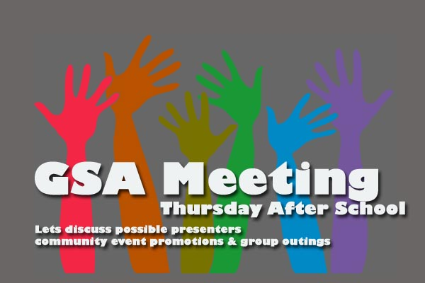 GSA meeting Thursday