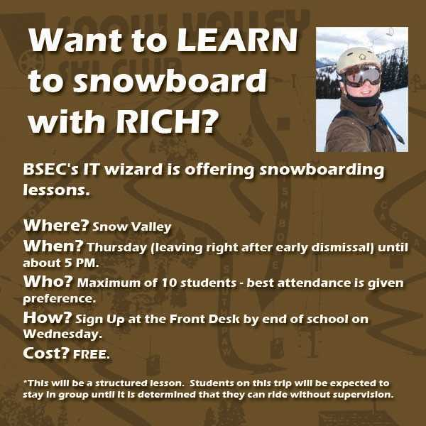 Learn to Snowboard With Rich!