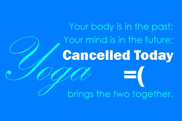 Yoga Cancelled This Week.  See Brandy for more details.