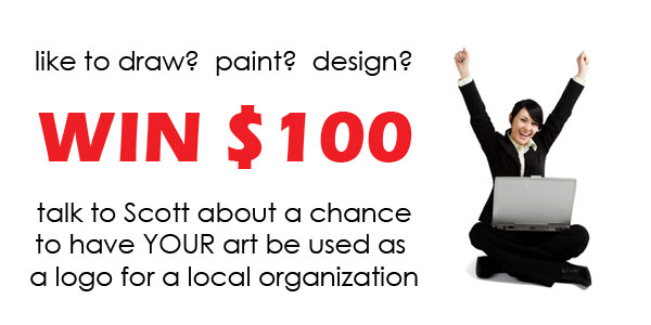 Talk to Scott about how YOUR art could win you 100$
