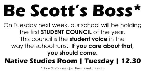 Sign up for Student Council and let your voice be heard!